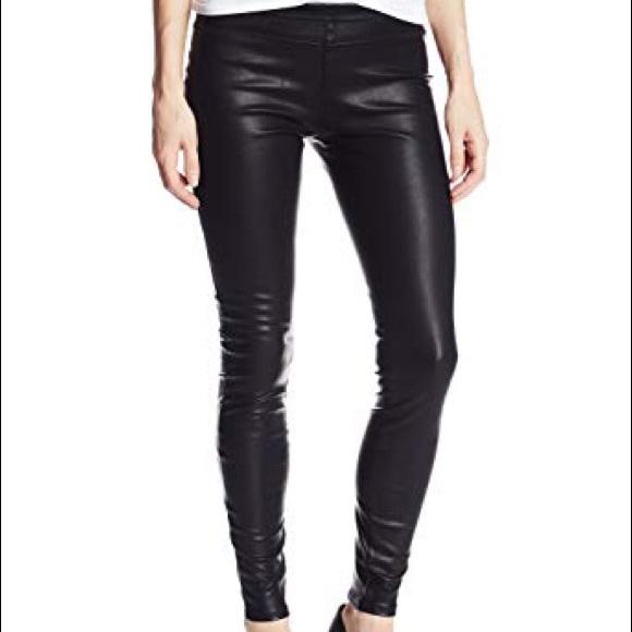 7077930df0bdb7 Blank NYC Pants | Blanknyc Black Vegan Leather Pussy Cat Leggings 26 ...